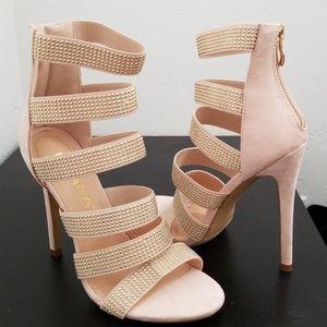 Nude heels by Lola Shoetique